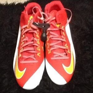 Nike Shoes - Men's white red Nike football cleats